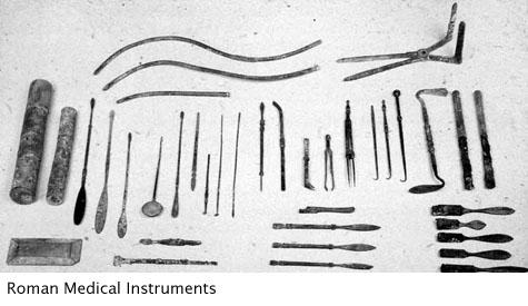 Various hand-held roman medical instruments
